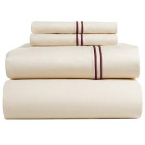 Image of Bambeco Satin Stitch Sateen Organic Cotton Sheet Set - King, 500 TC