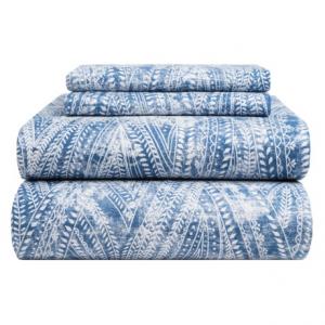 Image of Bambeco Ashbury Organic Cotton Distressed-Print Sheet Set - King, 200 TC