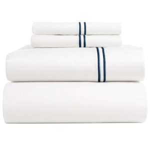 Image of Bambeco Satin Stitch Organic Cotton Sateen Sheet Set - Full, 500 TC