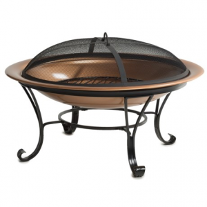 Image of Pomegranate Solutions Copper Fire Pit with Screen - 29?