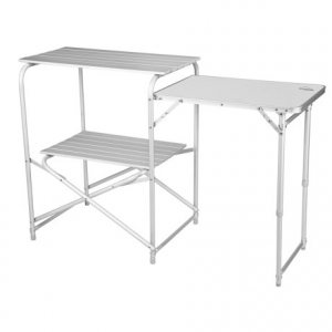 alpine mountain gear roll-top camp kitchen table- Save 46% Off - CLOSEOUTS . Prepare delicious meals no matter how far away from home you are with a little help from Alpine Mountain Gearand#39;s Roll-Top camp kitchen table. The fold-down, durable aluminum construction features a double-decker roll-top table and a side solid-top table thatand#39;s perfect for prep. Available Colors: SEE PHOTO.