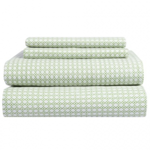 Image of Bambeco Petite Collection Diamond Sheet Set - Twin, Organic Cotton