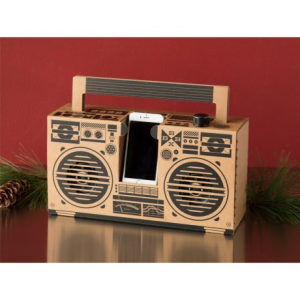 Image of Berlin Recycled Cardboard Boombox - Bluetooth(R) Compatible