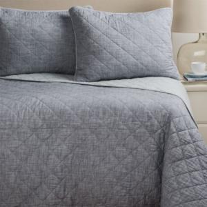 Image of Artisan De Luxe Diamond Slub-Cotton Quilt Set - Full-Queen