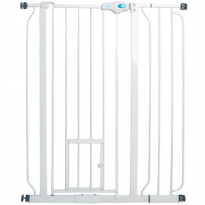 Image of Carlson Pet Products Extra-Tall Expandable Pet Gate with Small Pet Door
