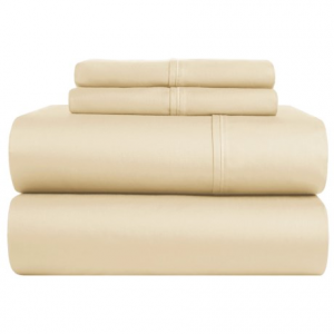 Image of Brielle Cotton Sateen Sheet Set - King, 380 TC