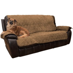 Image of Yes Pets Quilted Microsuede Sofa Cover - Microfiber