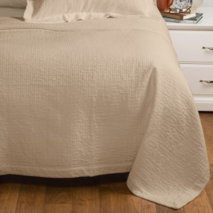 Image of Peacock Alley Bradley Collection Stonewashed Coverlet - Queen, Egyptian Cotton