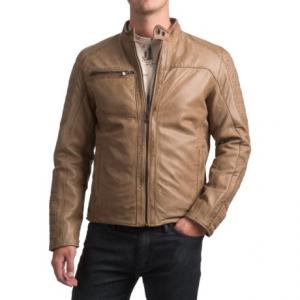 Image of Bod and Christensen Atlantic Style Moto Jacket - Sheepskin Leather (For Men)