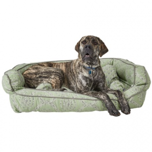 Image of Cynthia Rowley Rhode Medallion Bolster Dog Bed - XXL, 43x29?