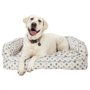 Image of Cynthia Rowley Dot Canvas Rectangle Couch Bolster Dog Bed - XXL, 43x29?