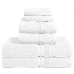 Image of Melange Home Haute Monde Bath Towel Set - Turkish Cotton, 6-Piece