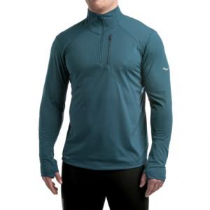 Image of Saucony Run Shield Sport Shirt - Zip Neck, Long Sleeve (For Men)
