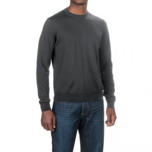 Image of Aqua by Toscano Wool Sweater - Crew Neck (For Men)