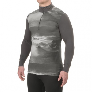 Image of Helly Hansen Graphic Base Layer Top - Merino Wool, Zip Neck, Long Sleeve (For Men)