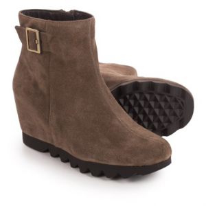 Image of Aerosoles Confidential Wedge Ankle Boots - Suede (For Women)