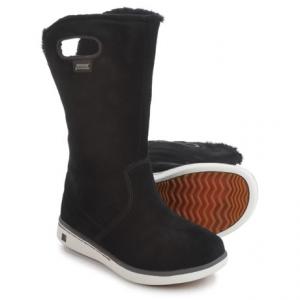 Image of Bogs Footwear Boga Suede Snow Boots - Waterproof (For Little Kids)