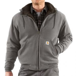 Image of Carhartt Collinston Sweatshirt - Brushed Fleece Sherpa Lining (For Big and Tall Men)