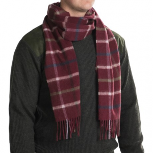 Image of Barbour Bolt Tattersall Scarf - Lambswool-Cashmere (For Men and Women)