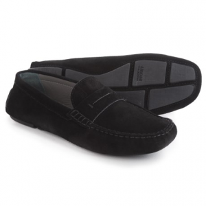 Image of Armani Suede Moc Loafers (For Men)