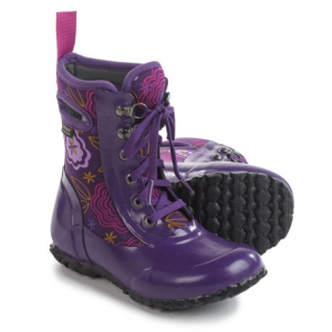 Image of Bogs Footwear Sidney Posey Insulated Rain Boots - Waterproof, Lace-Ups (For Little Girls)