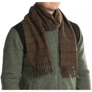 Image of Barbour Kenneth Overcheck Wool Scarf (For Men and Women)
