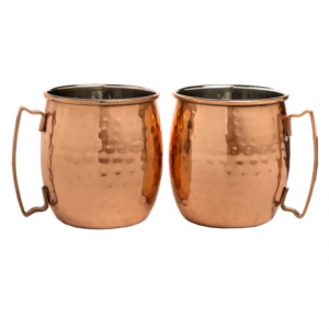 Image of Core Bamboo Hammered Moscow Mule Mugs - 20 fl.oz., Set of 2
