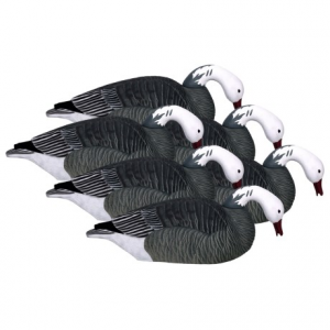 Image of Hardcore Pro-Series Blue Goose Shell Feeder Decoys - 6-Pack