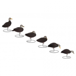 Image of Hardcore Pro-Series Full Body Black Duck Touchdown Decoys - 6-Pack