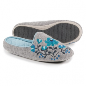 Image of Acorn Flower Scuff Slippers - Wool (For Women)