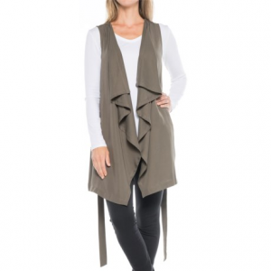 Image of B Collection by Bobeau Elsie Waterfall Tunic Vest (For Women)