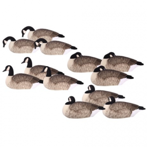 Image of Hardcore Elite-Series Canada Goose Shells Fully Flocked Touchdown Decoys - 12-Pack