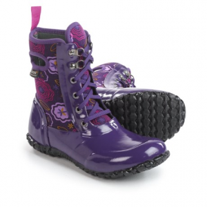 Image of Bogs Footwear Sidney Lace Posey Rain Boots - Waterproof, Insulated (For Big Girls)