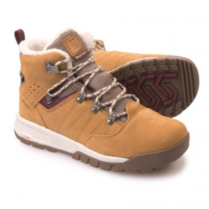 salomon utility ts climashield(r) winter boots - waterproof, insulated (for women)- Save 53% Off - CLOSEOUTS . Reliably warm and stylish, Salomon Utility TS Climashieldand#174; winter boots have 200g Thinsulateand#174; inside a mid-cut waterproof upper. The Winter Contagripand#174; outsole combines cutting-edge geometry and rubber compounds for outstanding traction on snow and ice. Available Colors: BEIGE LTR/SHREW/BORDEAUX. Sizes: 5, 5.5, 6, 6.5, 7, 7.5, 8, 8.5, 9, 9.5, 10, 10.5, 11, 11.5, 12, 12.5, 13, 13.5, 14.