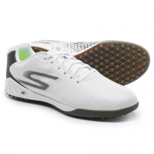 skechers go soccer hexgo soccer shoes (for men)- Save 60% Off - CLOSEOUTS . Built for artificial turf and hard surfaces, Skechersand#39; Go Soccer Hexgo soccer shoes feature a grippy rubber outsole with traction pods, a shock-absorbing 5GENand#174; EVA midsole and a textured synthetic leather upper. Inside is a cushy Goga Maxand#174; insole made from stretchy yoga mat material for incredible comfort. Available Colors: BLACK/WHITE, CHARCOAL, RED, WHITE/BLACK. Sizes: 7, 7.5, 8, 8.5, 9, 9.5, 10, 10.5, 11, 11.5, 12, 12.5, 13, 14.