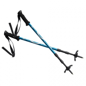 voile backcountry adjustable ski poles with snow scraper- Save 46% Off - CLOSEOUTS . Lightweight, three-part touring poles, Voileand#39;s Backcountry ski poles offer no-freeze, push-button adjustment and glove-friendly EVA-foam grip handles. Use the integrated nylon scraper mounted on one pole grip to clean off your ski/board topsheet (and to pull climbing rope in closer). Available Colors: BLUE/BLACK.
