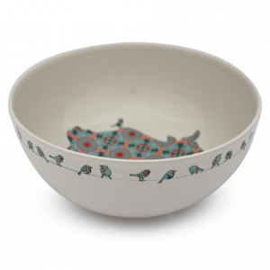 Image of Jersey Pottery Bessie and Lily Ceramic Salad Bowl - 10?