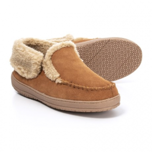 Image of Clarks Suede Moc Slippers - Fleece Lined (For Men)