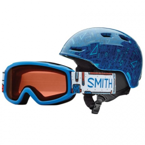 smith optics zoom jr. ski helmet sidekick goggle combo pack (for little and big kids)- Save 52% Off - CLOSEOUTS . Smith Opticsand#39; Zoom Jr. ski helmet and Sidekick goggle combo pack puts reliable head and eye protection in a single package that fits smaller riders. Airflow ventilation keeps the head comfortable and the integrated design means fog-free goggle performance. Available Colors: ANGRY BIRD, BLACK, FIRE ANIMAL KINGDOM, LAPIS TOOLBOX, PINK SUGAR CONE. Sizes: S.
