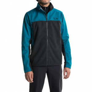mountain hardwear mountain tech ii jacket - airshield fleece (for men)- Save 55% Off - CLOSEOUTS . Combing AirShield wind-blocking fleece with abrasion-resistant, weather-shedding AirShield soft shell panels, Mountain Hardwearand#39;s Mountain Tech II jacket is a weather-resistant hybrid that provides lightweight, durable and breathable comfort on the trail. Available Colors: DESERT GOLD/DARK ADOBE, UTILITY GREEN/GREENSCAPE, COLLEGIATE NAVY, GOLDEN BROWN/HARDWEAR NAVY, AMPHIBIAN/GREENSCAPE, STONE GREEN/BLACK, BLACK, TITANIUM/SHARK, BLACK/PHOENIX BLUE. Sizes: S, M, L, XL, 2XL, 3XL.