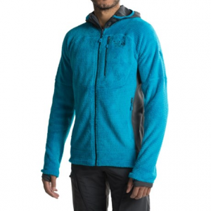mountain hardwear monkey man grid ii hooded fleece jacket - polartec(r) thermal pro(r) (for men)- Save 67% Off - CLOSEOUTS . Layer up in Mountain Hardwearand#39;s Monkey Man Grid II hooded jacket. Polartecand#174; Thermal Proand#174; high loft fleece is combined with strategically placed hardface fleece panels for incredibly plush warmth and easy movement. Available Colors: BLACK/SHARK, PHOENIX BLUE/SHARK, INCA GOLD/SHARK, DARK COMPASS, THUNDERHEAD GREY, BLACK. Sizes: S, M, L, XL, 2XL.