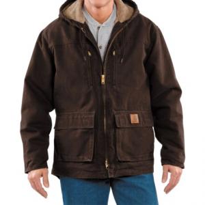 Image of Carhartt Sandstone Jackson Coat - Sherpa Lined (For Men)