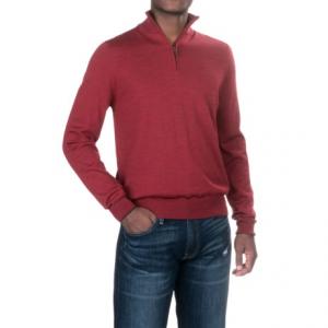 Image of Aqua by Toscano Merino Wool Sweater - Zip Neck (For Men)