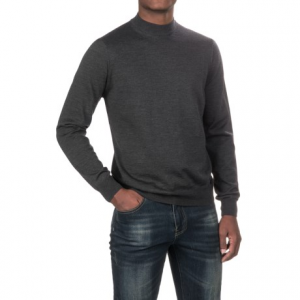 Image of Aqua by Toscano Mock Neck Sweater - Merino Wool, Long Sleeve (For Men)