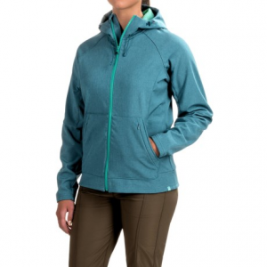 simms rogue hooded jacket - upf 30+, full zip (for women)- Save 60% Off - CLOSEOUTS . Cozy fleece on the inside, water-repellent stretch fabric on the outside -- and another day of comfortable fishing for you in Simmsand#39; Rogue hooded jacket! A DWR coating helps prevent light precipitation and splashes from soaking through, and dual-layer pockets offer extra storage space for on-hand supplies. Available Colors: INK, IRON. Sizes: S, M, L, XL.
