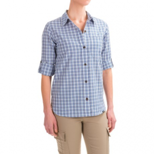 patagonia island hopper ii shirt - upf 15+, organic cotton, long sleeve (for women)- Save 64% Off - CLOSEOUTS . Hit the trail in Patagoniaand#39;s Island Hopper II shirt, fashioned from a breathable, lightweight cotton blend weave, and featuring roll-tab sleeves for cool comfort as the day heats up. Available Colors: DUSTY LITE ELECTRON BLUE, NYMPH BANDANA BLUE. Sizes: XS, S, M, L, XL.