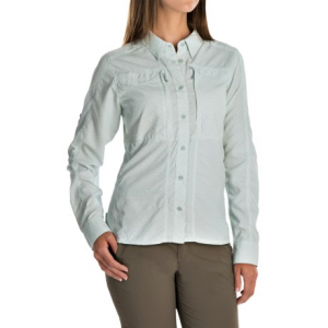 simms attractor shirt - upf 50+, long sleeve (for women)- Save 72% Off - CLOSEOUTS . Spend a day on the water in Simmsand#39; Attractor shirt. This ultralight, quick-drying top features built-in sun protection and COR3 technology to keep you feeling cool, dry and comfortable. Hidden mesh-lined side vents provide added airflow, zip chest pockets keep flies handy, and accessory tabs conveniently hold tools as you cast your line hoping to catch  the  big one. Available Colors: NIGHTSHADE, POOL, GEO TITLE FROST. Sizes: S, M, L, XL.