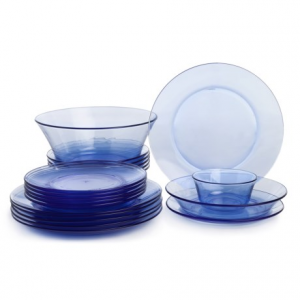 Image of Duralex Lys Glass Dinnerware Set - 20-Piece