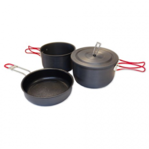 Image of Alpine Mountain Gear Hard Anodized Camping Mess Kit - 3-Piece