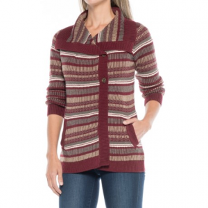 aventura clothing sienna sweater - merino wool (for women)- Save 38% Off - CLOSEOUTS . Knit from a silky-soft, surprisingly warm merino wool blend and designed for cute-and-cozy comfort, Aventura Clothingand#39;s Sienna sweater is a favorite for cool-day layering. The oversized fold-down collar, off-center two-button closure and gorgeous allover patterns lend a casual, easygoing charm. Available Colors: CHARCOAL, BLUE INDIGO, BURNT RUSSET. Sizes: XS, S, M, L, XL, 2XL.